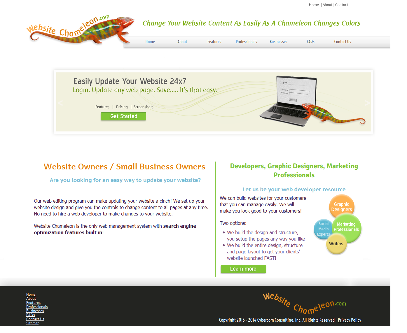 Website Chameleon™ Content Management System to preview of edits made to your website