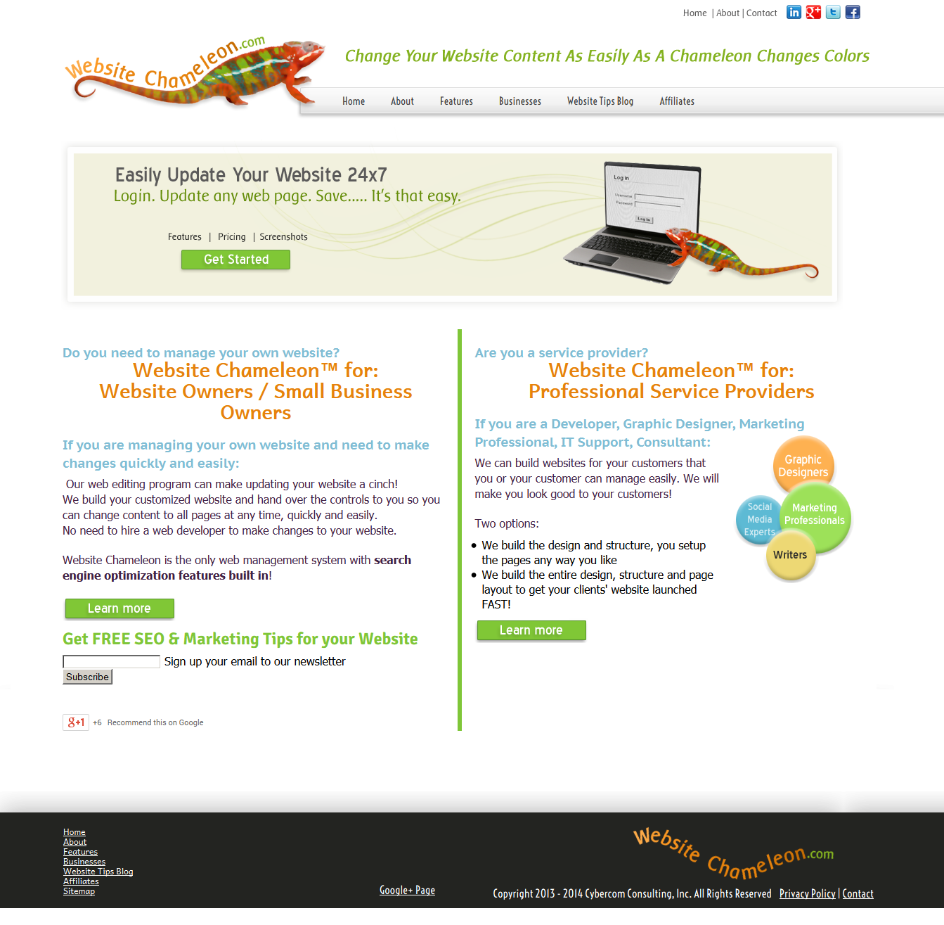 Website Chameleon